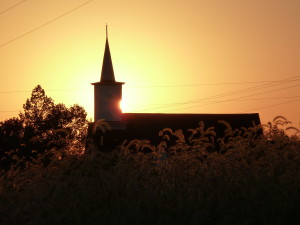 Sunrise over church 2